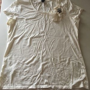 Ann Taylor Embellished T Shirt XL